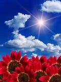 De wolkenhemel van de zon royalty-vrije stock afbeelding