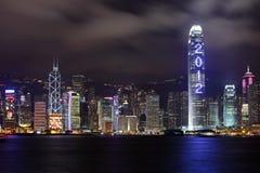 De wolkenkrabber toont 2012 Stock Foto's