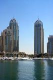 De wolkenkrabber van de Jachthaven van Doubai Stock Foto