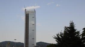 De wolkenkrabber van het Piemonte-Gebied door Massimiliano Fuksas wordt ontworpen dat stock footage