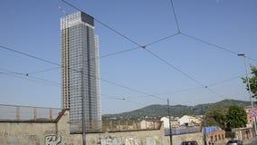 De wolkenkrabber van het Piemonte-Gebied door Massimiliano Fuksas wordt ontworpen dat stock videobeelden
