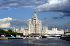 De wolkenkrabber van Moskou Stock Afbeelding