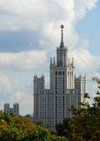 De wolkenkrabber van Moskou Royalty-vrije Stock Fotografie