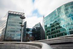 De wolkenkrabbers en het stadhuis van Londen Royalty-vrije Stock Foto