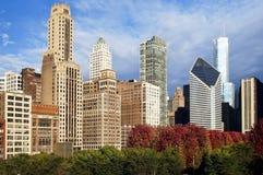 De wolkenkrabbers van Chicago Stock Foto