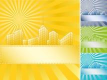 De wolkenkrabbers van de banner Stock Afbeeldingen