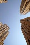De Wolkenkrabbers van de Jachthaven van Doubai royalty-vrije stock afbeeldingen