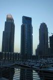 De Wolkenkrabbers van de Jachthaven van Doubai, verenigde Arabische emiraten Royalty-vrije Stock Afbeeldingen