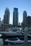 De Wolkenkrabbers van de Jachthaven van Doubai, verenigde Arabische emiraten Stock Afbeeldingen