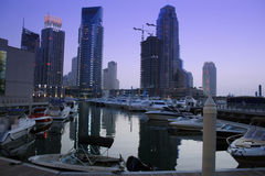 De Wolkenkrabbers van de Jachthaven van Doubai, verenigde Arabische emiraten Royalty-vrije Stock Afbeelding