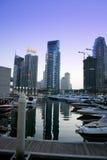 De Wolkenkrabbers van de Jachthaven van Doubai, verenigde Arabische emiraten Royalty-vrije Stock Fotografie