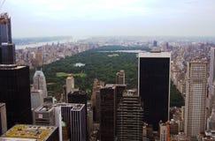 De wolkenkrabbers van de Stad van New York Stock Foto