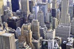 De wolkenkrabbers van de Stadsmanhattan van New York Stock Afbeelding