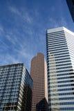 De Wolkenkrabbers van Denver stock afbeeldingen