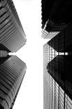 De Wolkenkrabbers van het glas in Zwart-wit, Hongkong royalty-vrije stock foto's