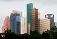 De wolkenkrabbers van Houston Stock Foto's