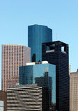 De Wolkenkrabbers van Houston Royalty-vrije Stock Foto's