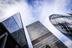 De wolkenkrabbers van Londen Royalty-vrije Stock Foto's