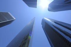 De wolkenkrabbers van Los Angeles Stock Afbeeldingen