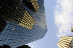 De wolkenkrabbers van Manhattan Royalty-vrije Stock Foto's