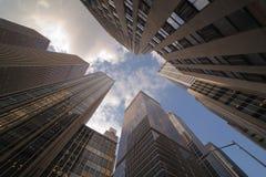 De Wolkenkrabbers van Manhattan Royalty-vrije Stock Afbeelding