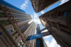 De wolkenkrabbers van Manhattan, de Stad van New York. Royalty-vrije Stock Afbeelding