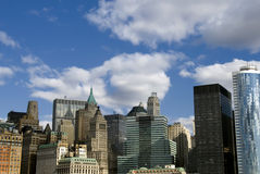 De wolkenkrabbers van Manhattan - New York Stock Foto