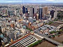 De Wolkenkrabbers van Melbourne Stock Foto's