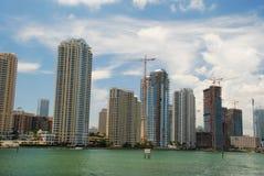 De Wolkenkrabbers van Miami Royalty-vrije Stock Foto