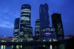 De wolkenkrabbers van Moskou Stock Foto's