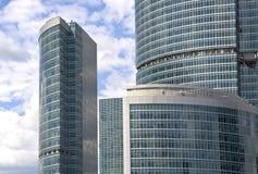 De wolkenkrabbers van Moskou Royalty-vrije Stock Afbeeldingen