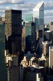 De wolkenkrabbers van New York Stock Foto