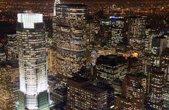 De wolkenkrabbers van New York Stock Fotografie