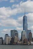 De wolkenkrabbers van New York Stock Afbeelding