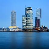 De Wolkenkrabbers van Rotterdam Stock Fotografie