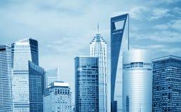 De wolkenkrabbers van Shanghai Royalty-vrije Stock Afbeeldingen