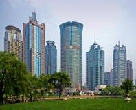 De wolkenkrabbers van Shanghai Stock Fotografie