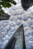 De Wolkenkrabbers van Shanghai Stock Foto's
