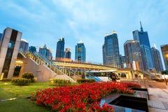 De wolkenkrabbers van Shanghai Stock Afbeelding