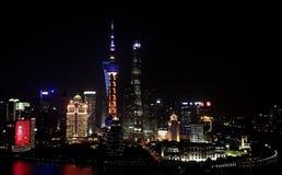 De wolkenkrabbers van Shanghai Lujiazui CBD royalty-vrije stock afbeelding