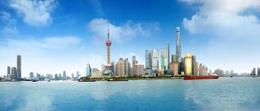 De wolkenkrabbers van Shanghai Lujiazui CBD Stock Fotografie