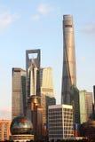 De wolkenkrabbers van Shanghai Lujiazui CBD Royalty-vrije Stock Foto's