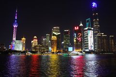 De wolkenkrabbers van Shanghai Lujiazui CBD Stock Afbeelding