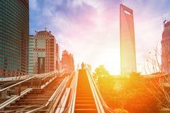 De wolkenkrabbers van Shanghai Pudong Royalty-vrije Stock Fotografie