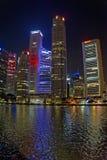 De Wolkenkrabbers van Singapore Royalty-vrije Stock Foto's