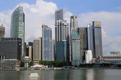 De Wolkenkrabbers van Singapore Stock Foto