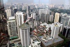 De Wolkenkrabbers van Singapore royalty-vrije stock afbeelding