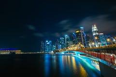 De Wolkenkrabbers van Singapore royalty-vrije stock foto