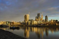 De wolkenkrabbers van Stad van Londen royalty-vrije stock afbeelding
