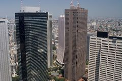 De Wolkenkrabbers van Tokyo Royalty-vrije Stock Fotografie